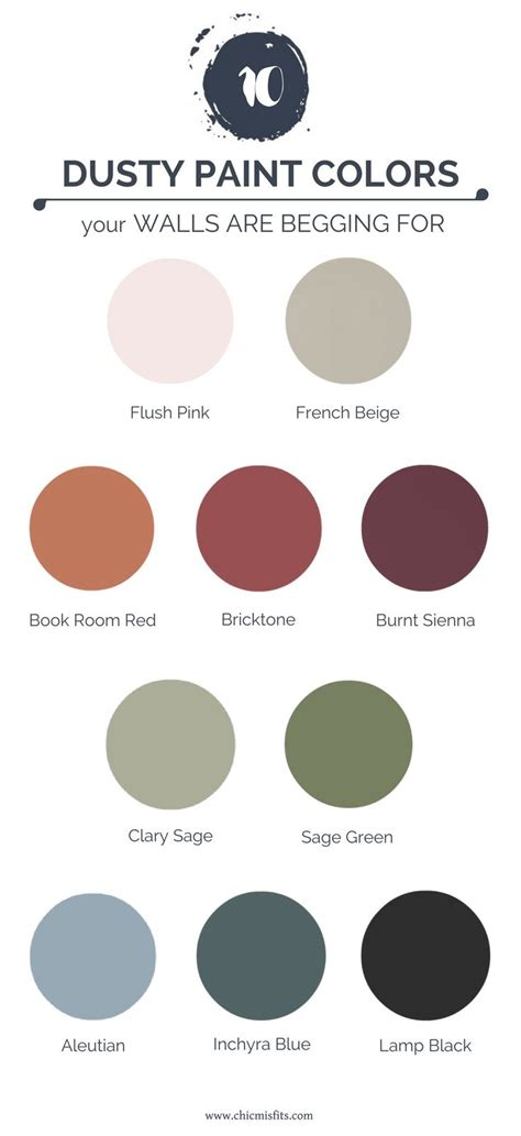 10 dusty paint colors your walls are begging for