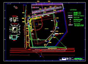 Stadium  With Lighting And Wiring In Autocad