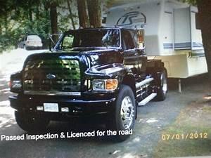 98 Ford F800 Custom Rv Pickup  8 3 Cummins  Air Brakes