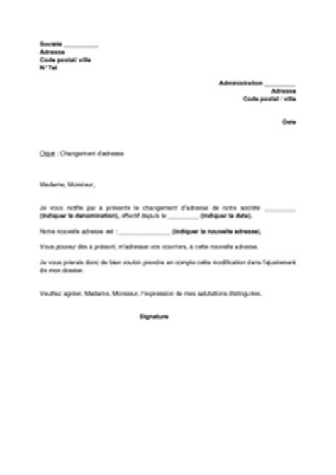 changement siege social sarl lettre de notification de changement d 39 adresse de la