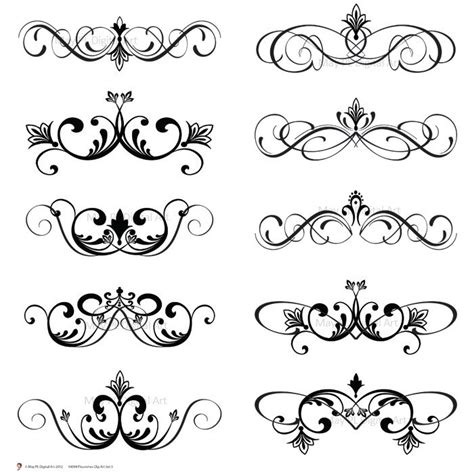 wedding scroll invitations free weddings swirls clip clip clipart
