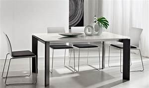 Tavolo da pranzo, salotto, cucina, in legno con piano in vetro o legno Tavolo Kevin Fisso