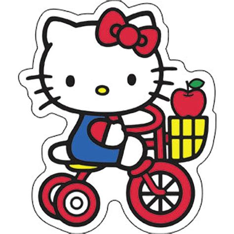 Hello Kitty Tricycle Apple Sticker