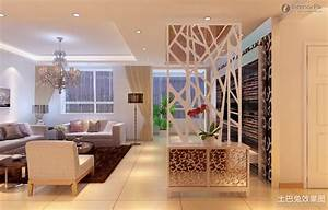 interior tips modern sofa set with chandelier and floor With partition wall design living room