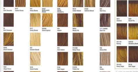 Hair Colors And Their Names by Hair Color Name Chart Hairstyles Writing