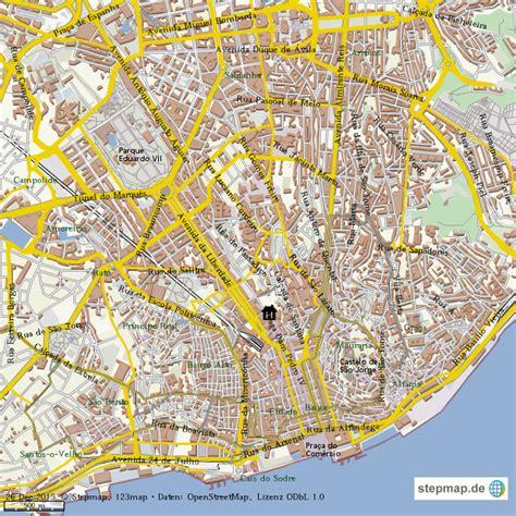 Lissabon Altstadt Karte