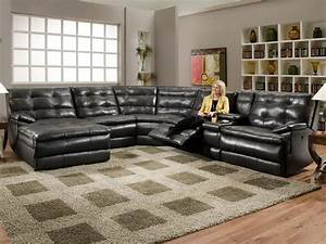 Large sectional sofas with recliners thesofa for Oversized reclining sectional sofa