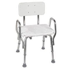 deluxe folding shower chair with cut away seat shower