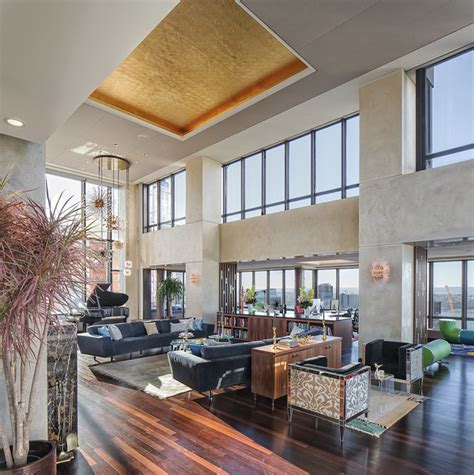st street penthouse contemporary living room