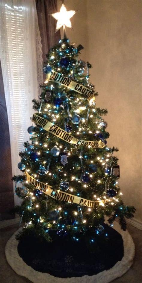 police themed christmas tree police pinterest