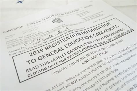 gce general examination  registration information