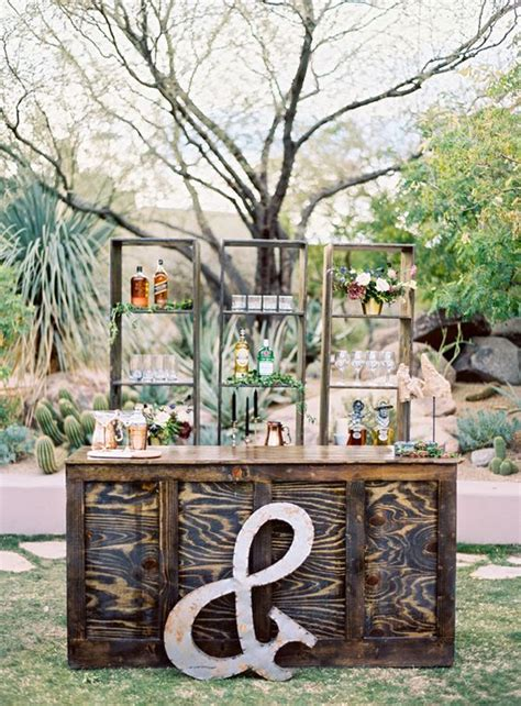 30 new ideas for your rustic outdoor wedding bar areas