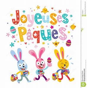 Joyeuses Paques Images : joyeuses paques happy easter in french greeting card with ~ Voncanada.com Idées de Décoration