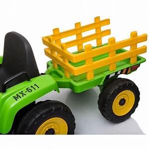 Tractor El U00e9ctrico Para Ni U00f1os 12v Con Remolque Ataa Ceresy