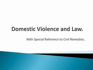 Domestic violence and law