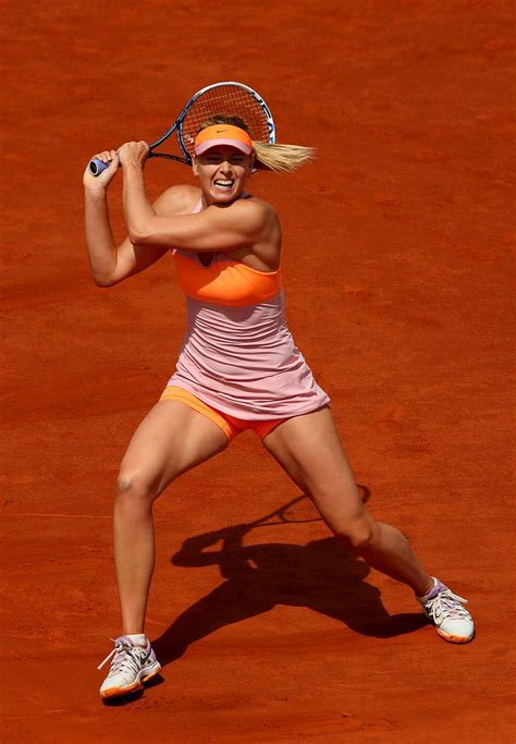maria sharapova  french open  roland garros semifinals
