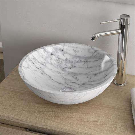 vasque a poser marbre vasque 224 poser ronde en marbre 41 cm carrara
