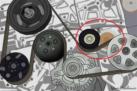 check  faulty timing belt tensioner yourmechanic