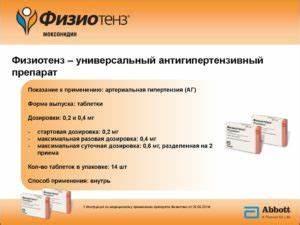 Лекарства от гипертонии физиотенз