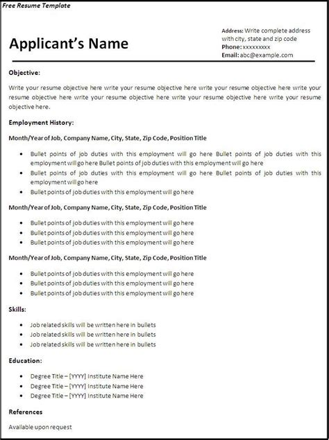 Free Empty Resume Format by Resume Easy Fill In Blank Templates Free Template Inside 25 Charming The Go