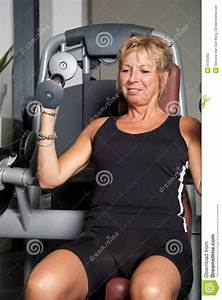 Weight Free Work Out Woman Doing Exercise Stock Photo Image 9735262