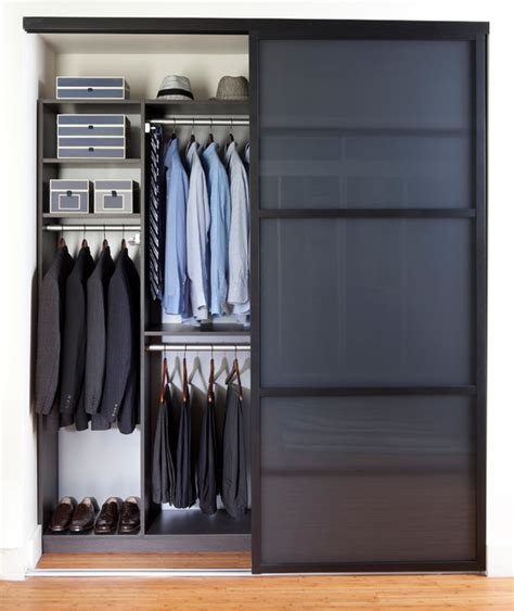 sleek reach in closet contemporary closet new york