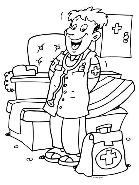 Kleurplaat Dokter Zuster by Kleurplaat Dokter Zuster Kleurplaat Vriendelijke Dokter