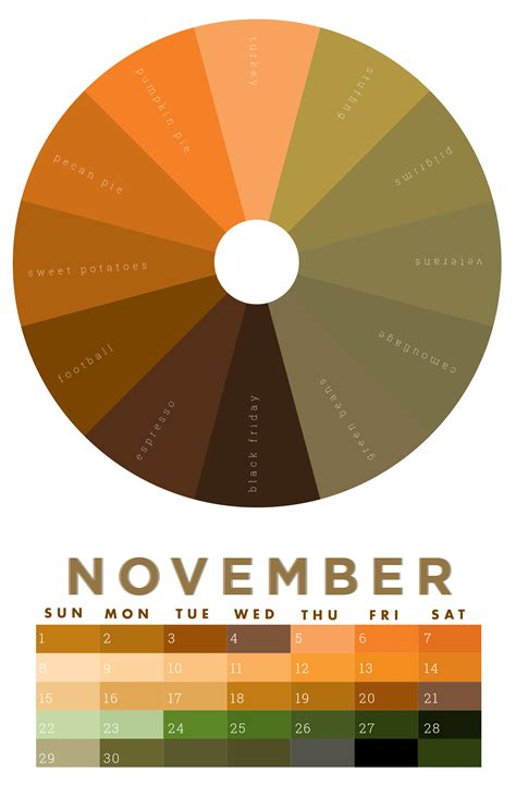 november colors the colors of november 2015 chromophilia color wheel