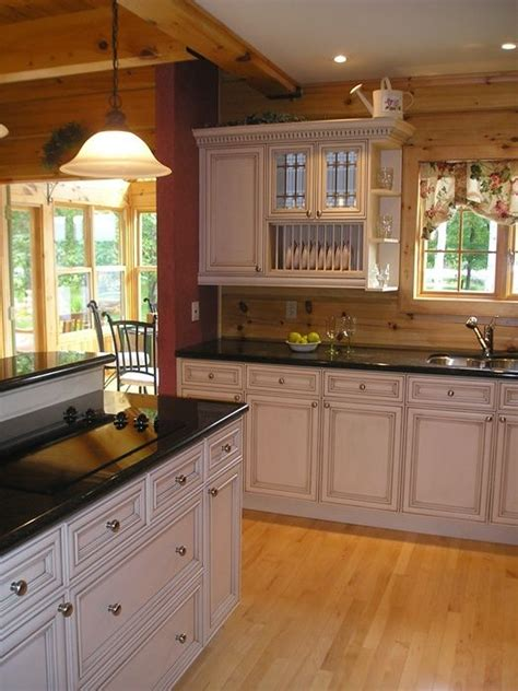 White Kitchen In Log Home #home #decor  My Dream Home In