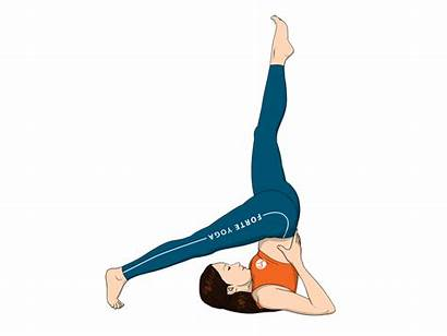 Yoga Pose Leg Supported Shoulderstand Poses Reclined