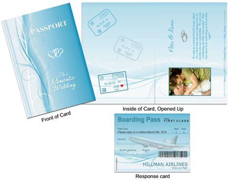 passport  blue swirls passport custom passport invitations