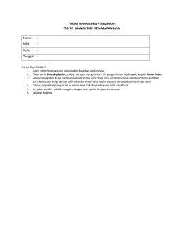 contoh format laporan penelitian tugas riset pemasaran