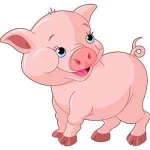 Funny Pink Pigs - Farm Animal Images