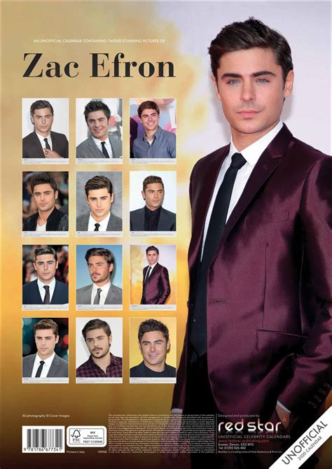 zac efron unofficial calendar calendar club uk