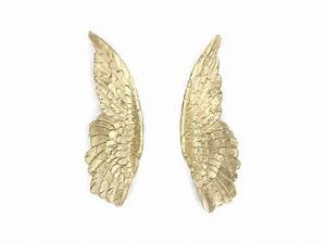Gold angel wings wing wall decor sympathy by nearanddeer