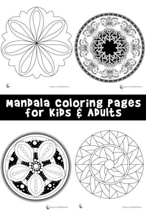 mandala coloring pages  kids adults woo jr kids activities