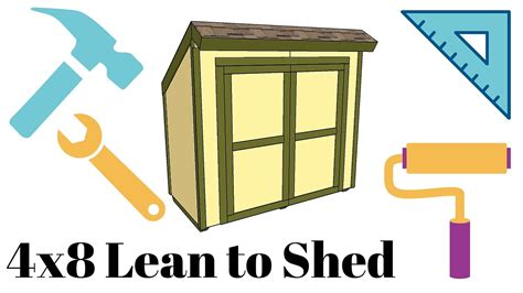 4x8 Wood Storage Shed by 4x8 Lean To Shed Plans