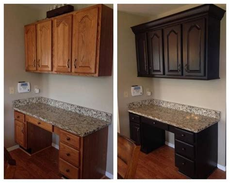 restaining kitchen cabinets diy chocolate painted kitchen cabinets