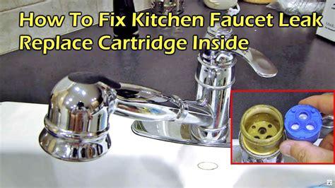 fix kitchen faucet leak replace  cartridge