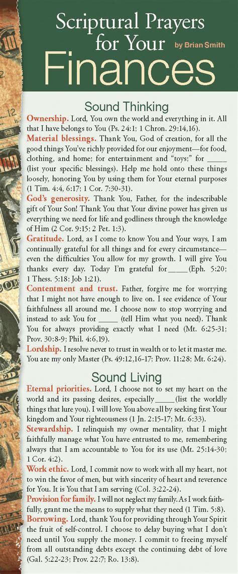 tyndale scriptural prayers   finances  pack