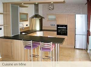 atelier du garo cuisines en bois massif frene With cuisine en bois frene