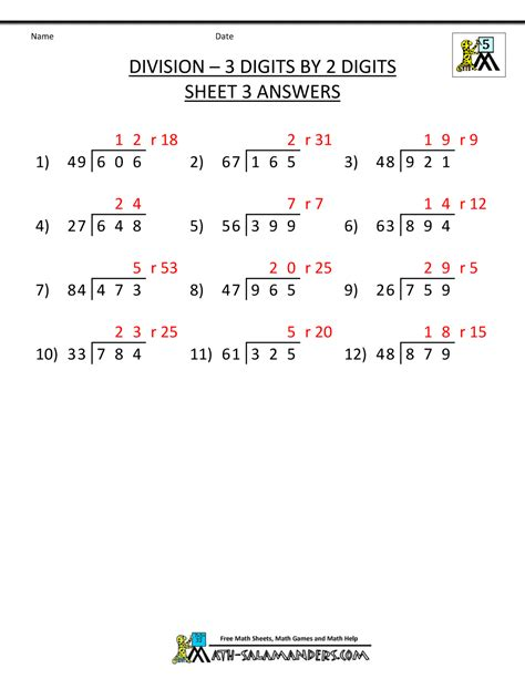division worksheets for 5th graders division worksheets for 5th grade