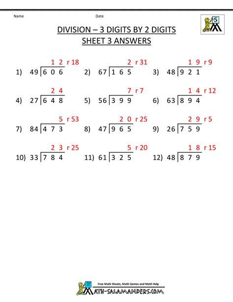 Long Division Worksheets For 5th Grade