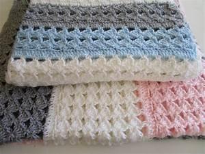 Easy Crochet Blanket Pattern  Slanted Shell Stitch