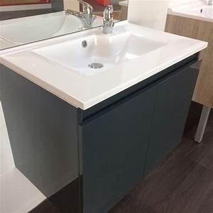 salle de bains meuble design par cher a saisir With salle de bain meuble gris anthracite