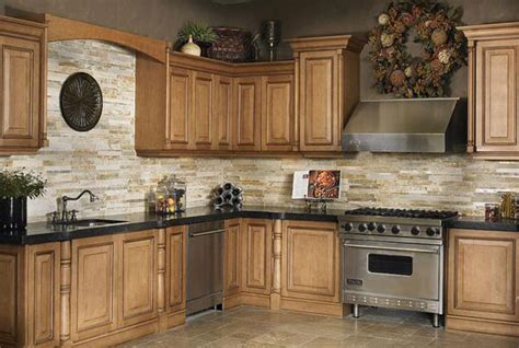 Kitchen Backsplash With Natural Stone  Home Design Ideas