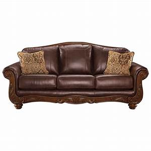 Ashley signature design mellwood 6460538 traditional for Ashley leather sofa