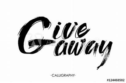 Giveaway Vector Contests Calligraphy Lettering Brush Ink