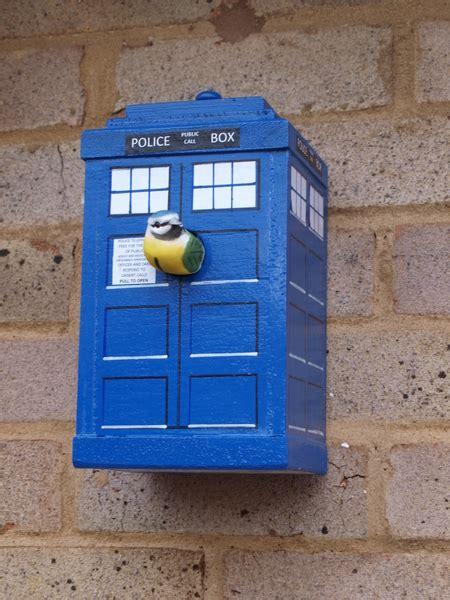 hand made bird box unique design tardis available online