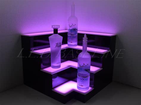 Corner Lighted Bar Shelf, Bar Decor, Back Bar, Mood